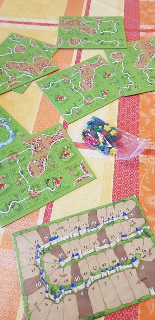 carcassonne board game unboxed