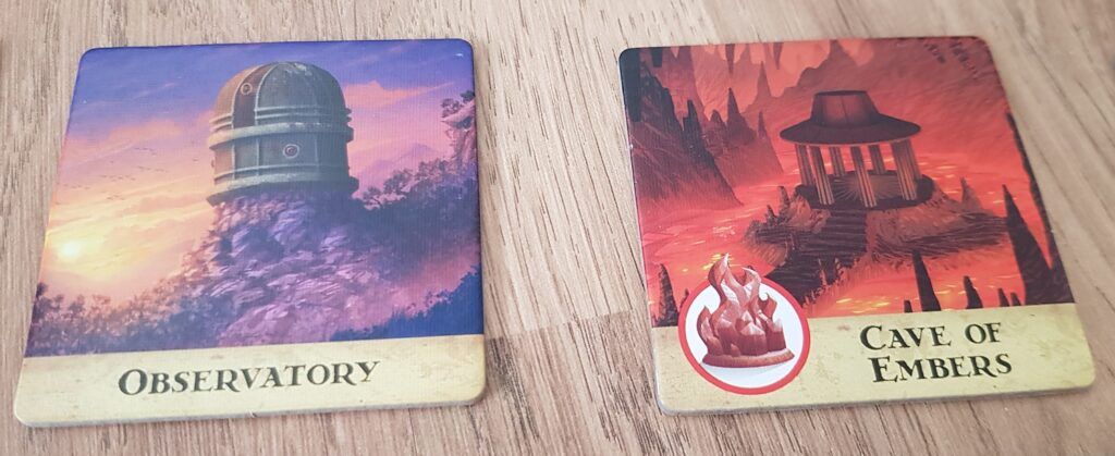 forbidden island board game review observatory and cave of embers tiles