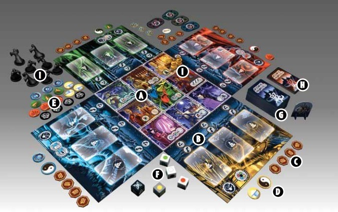 Best Halloween Horror Board Games ghost stories layout overview