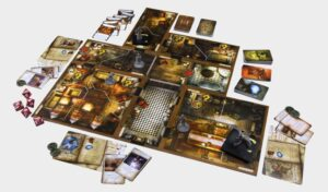 Best Halloween Board Games mansions of madness layout overview