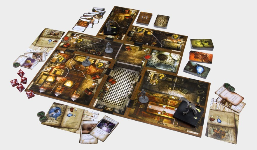 Best Halloween Horror Board Games mansions of madness layout overview