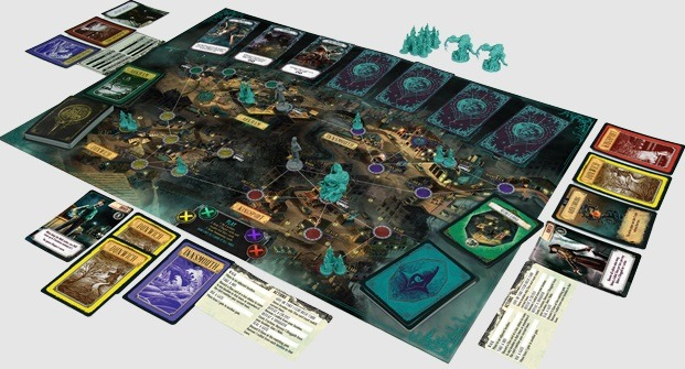 Best Halloween Horror Board Games pandemic reign of cthulhu layout overview