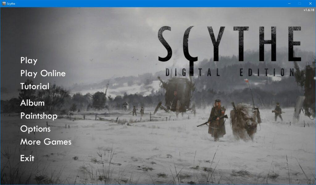 Scythe on PC: Steam Edition Review main menu