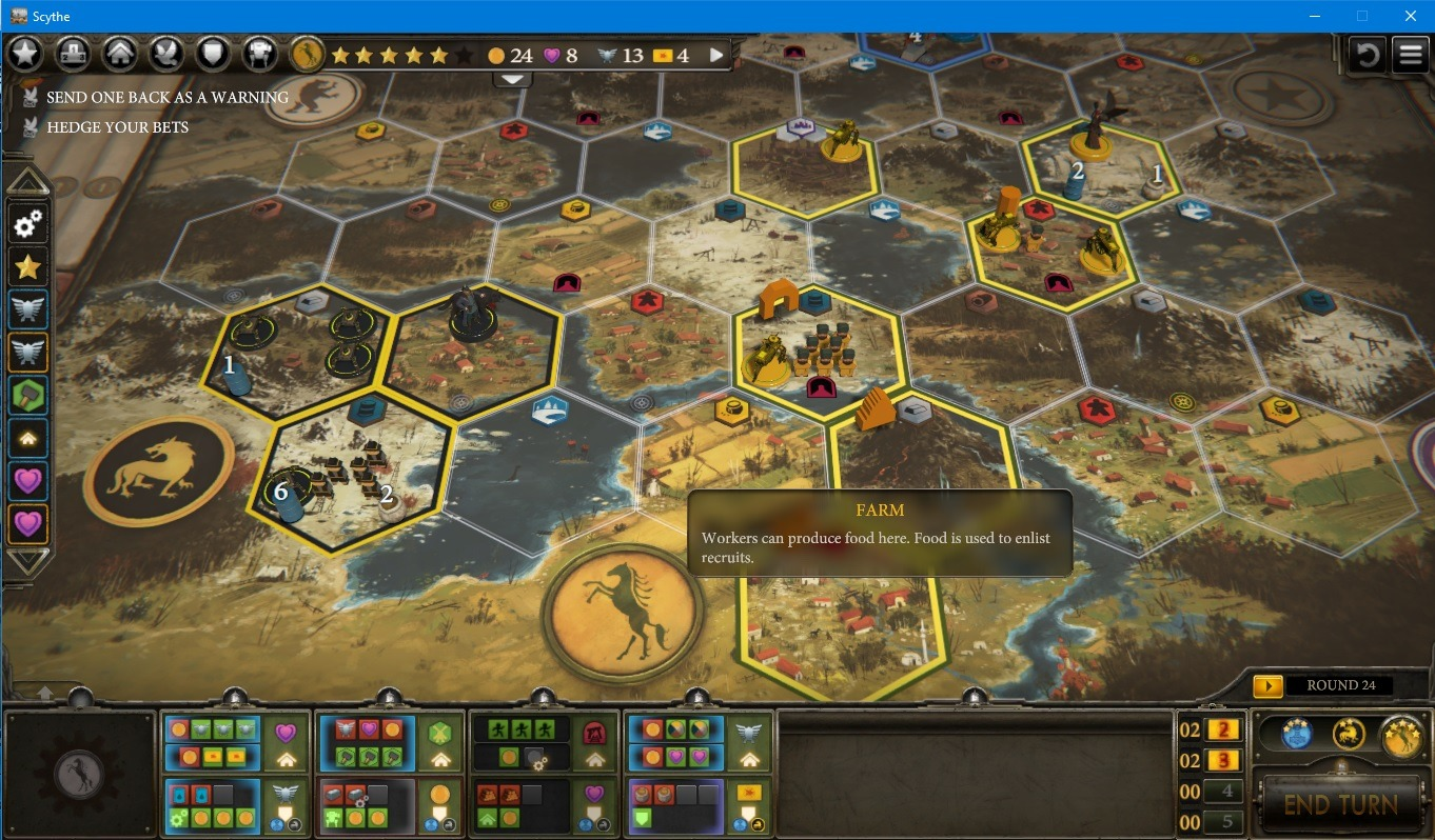Scythe on PC: Steam Edition Review user interface