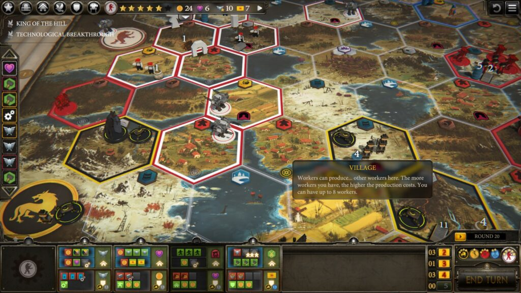 Scythe Strategy Basic Tips board