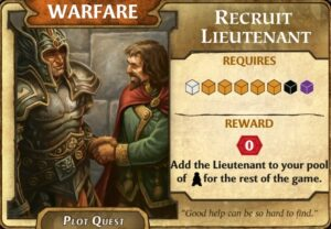 lords of waterdeep recruit lieutenant quest card