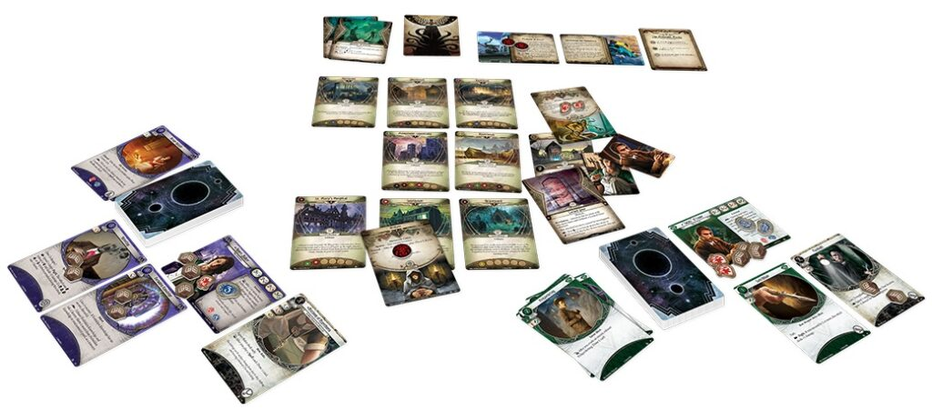 Best Adventure Board Games Arkham Horror the Card Game Layout Overview