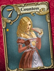 love letter countess card