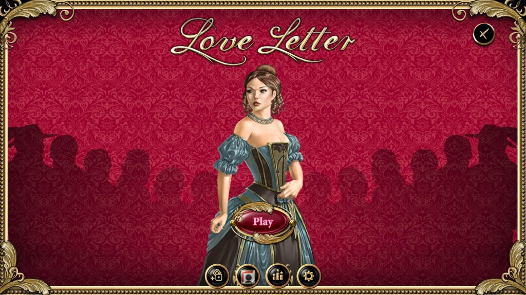love letter digital edition main menu