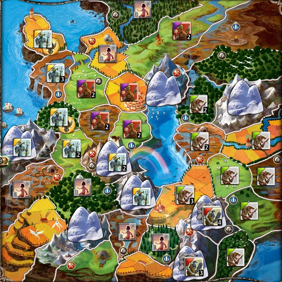 Small World Board Game Review four player map