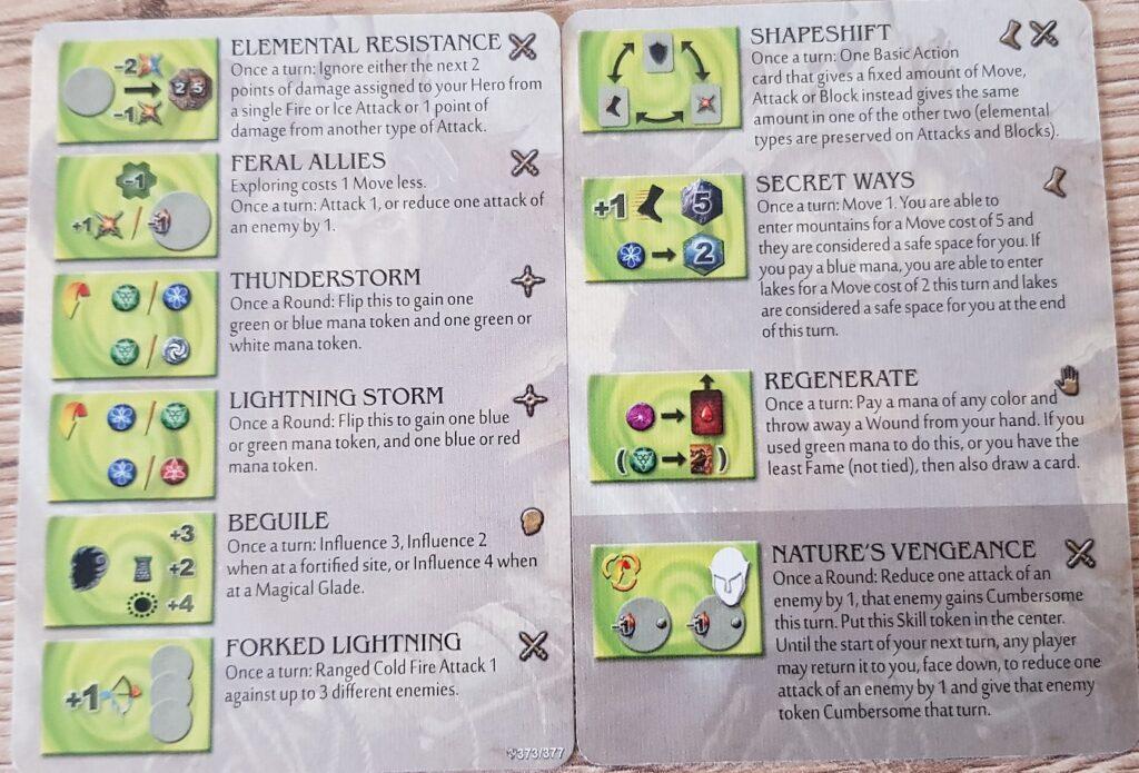 Mage Knight Heroes braevalar skills