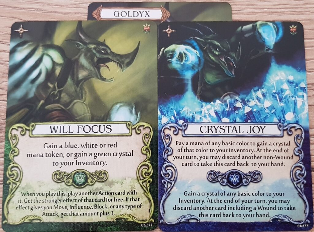 mage knight goldyx action cards
