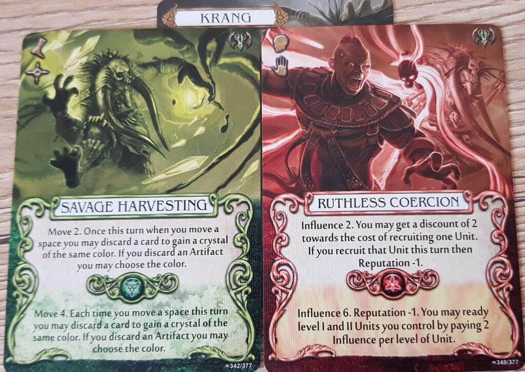 Mage Knight Heroes krang action cards