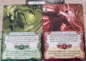 mage knight krang action cards