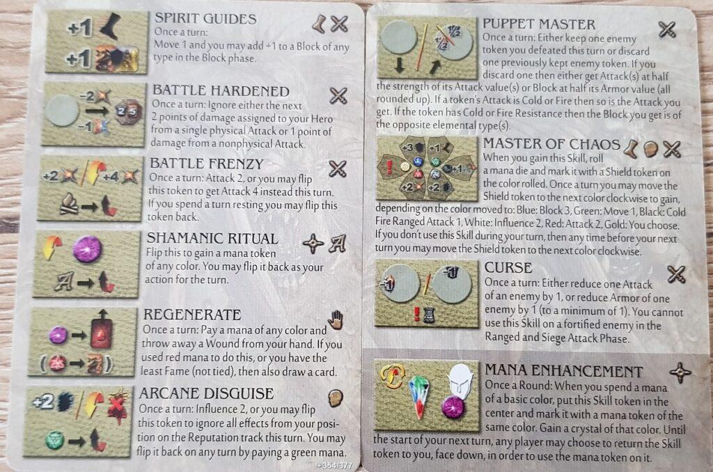 Mage Knight Heroes krang skills