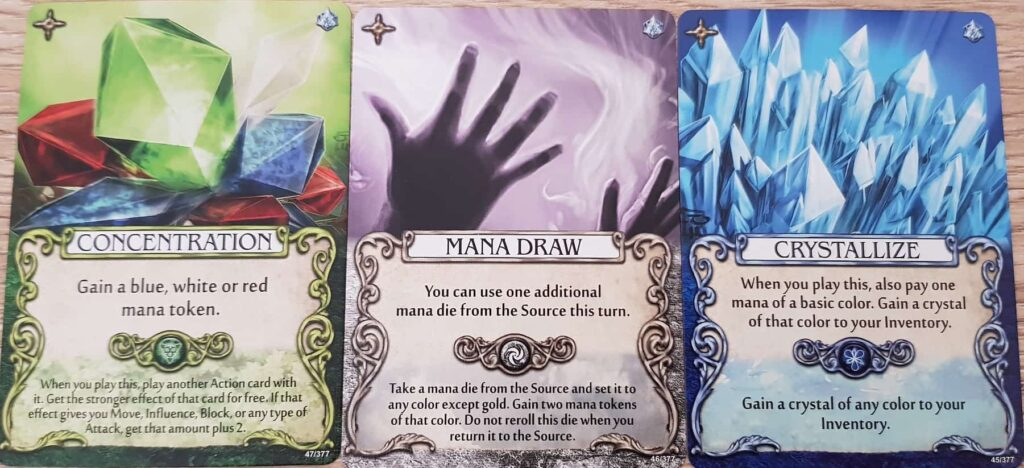 mage knight mana cards