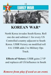 Twilight Struggle Review Board Game and Video Game korean war