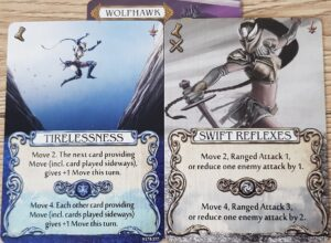 mage knight wolfhawk action cards