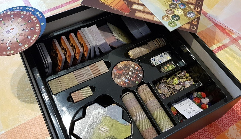 organizing mage knight ultimate edition before picture