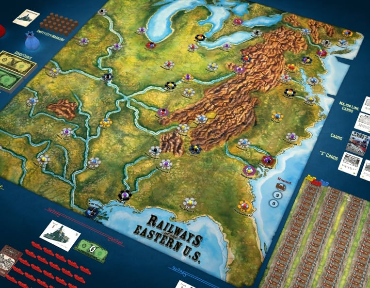 Best Train Board Games railways of the eastern US