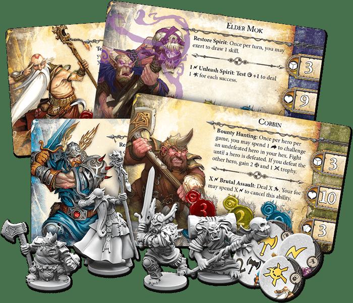 Mage Knight vs Runebound Runebound Heroes