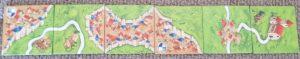 Carcassonne vs Kingdomino Carcassonne tiles