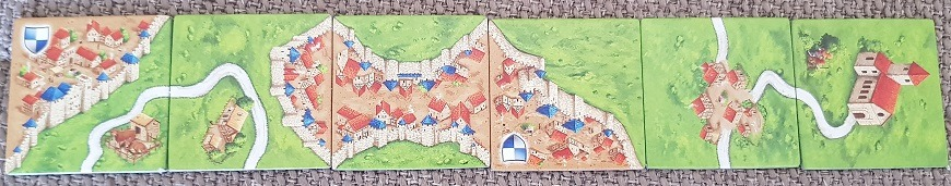 Carcassonne vs Kingdomino Carcassonne tiles