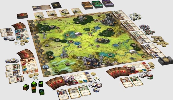 Mage Knight vs Runebound Runebound Layout Overview