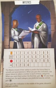 Tapestry Board Game Civilizations Mystics