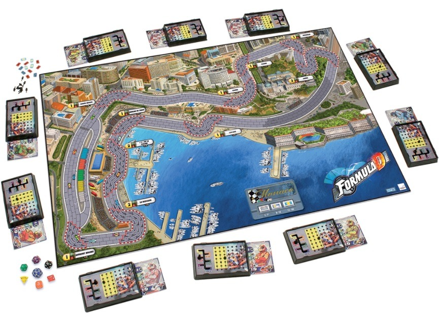 Best Auto Racing Board Games formula d layout overview