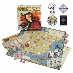 Best Civil War Board Games espana 1936 promo map