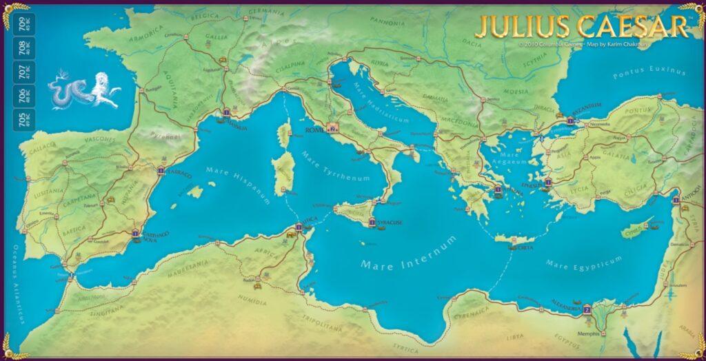 Best Civil War Board Games julius caesar map