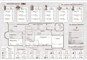 best detective board games awkward guests tracking sheet