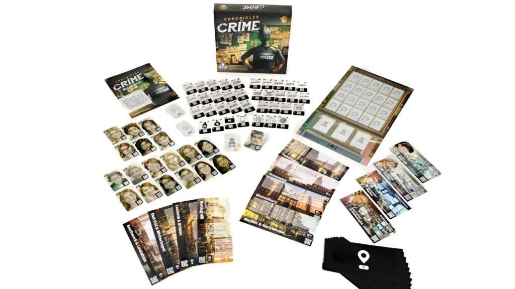 best detective board games cronicles of crime components