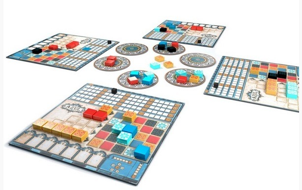 top 10 family board games azul setup overview table