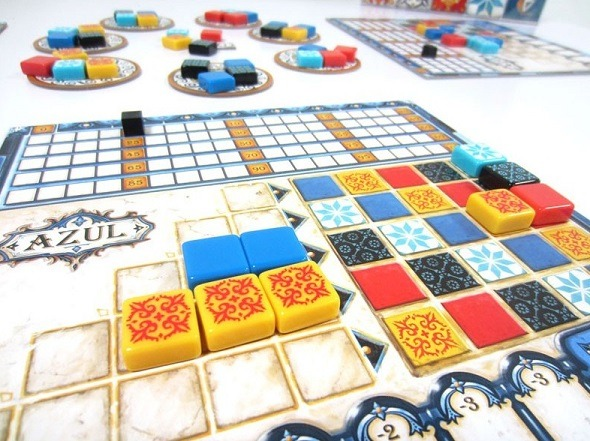 best abstract board games azul player board