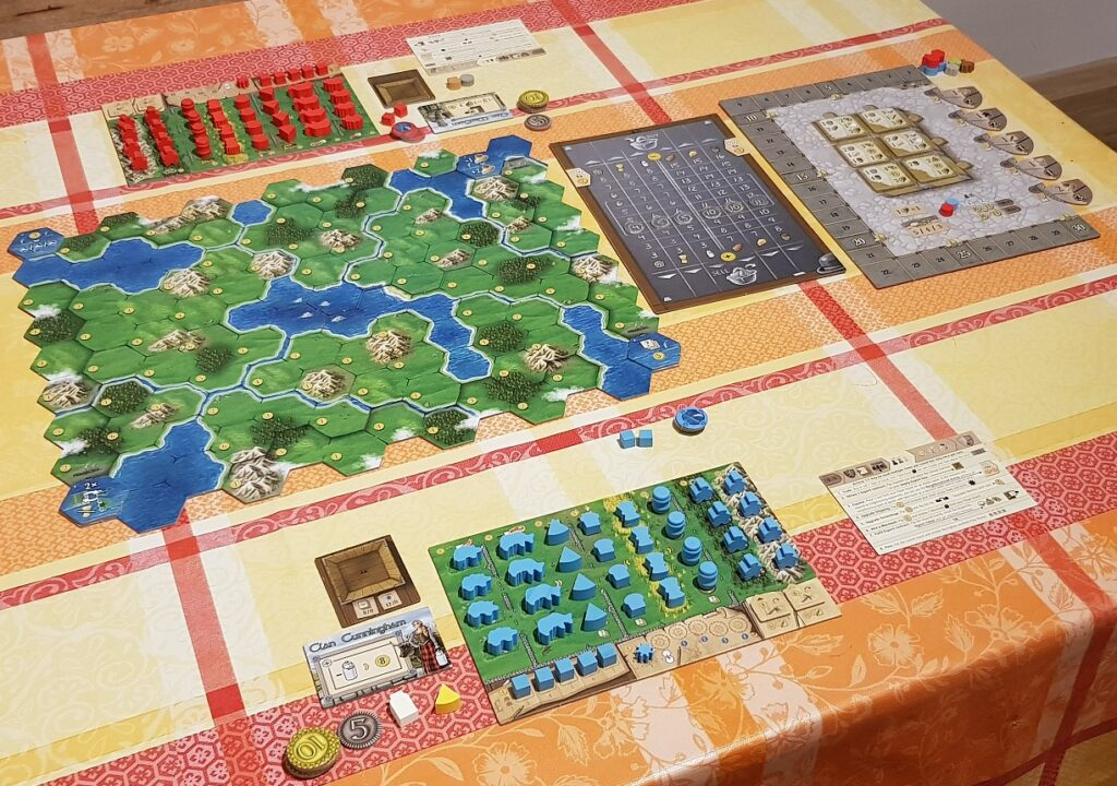 What is a Eutogame Clans of Caledonia Review Set Up