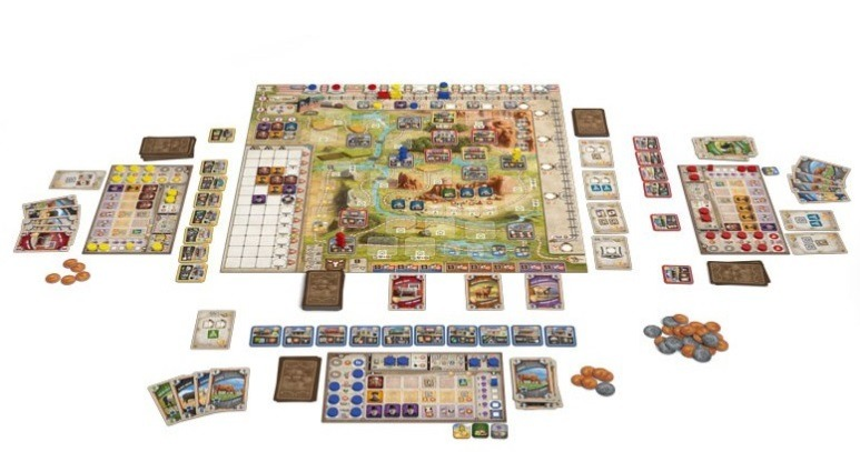 Top 10 Strategy Board Games for Adults Great Western Trail Setup