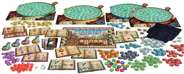 top 10 family board games the quacks of quedlinburg components