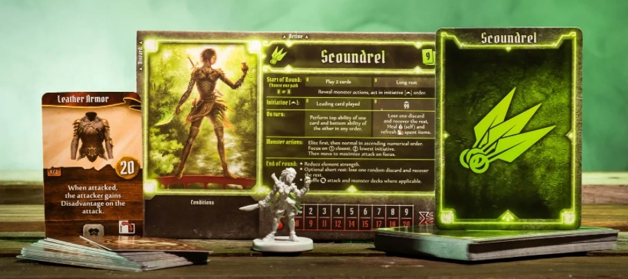 best dungeon crawler board games gloomhaven character card