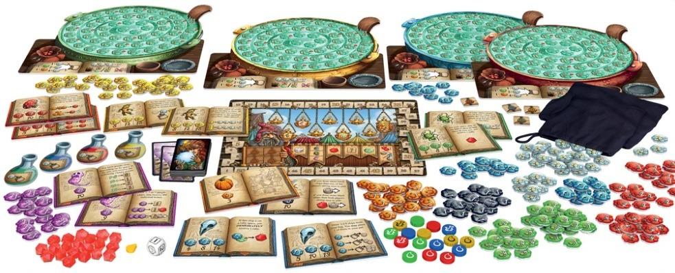 Top 10 Christmas Board Games The Quacks of Quedlinburg Components