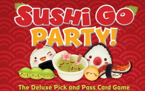 Top 10 Christmas Board Games Sushi Go Party! Title