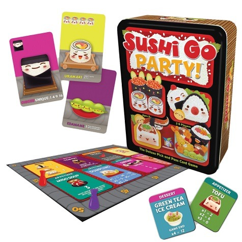 Top 10 Christmas Board Games Sushi Go Party! Components
