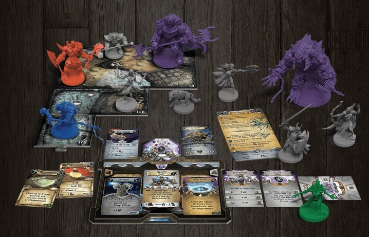 best dungeon crawler board games sword and sorcery components