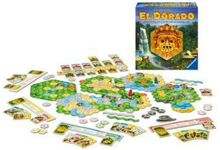 Top 10 Christmas Board Games The Quest for El Dorado Components