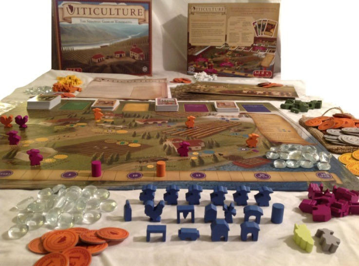 Best Solo Board Games Viticulture Components