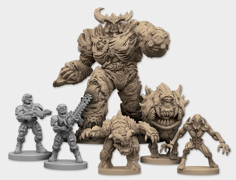 best dungeon crawler board games doom board game miniatures