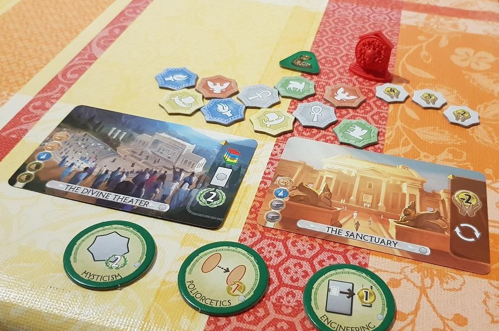 7 Wonders Duel Pantheon Expansion Components