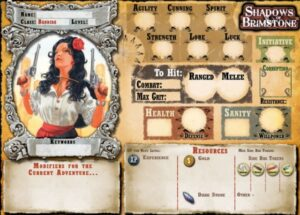 best dungeon crawler board games shadows of brimstone character sheet