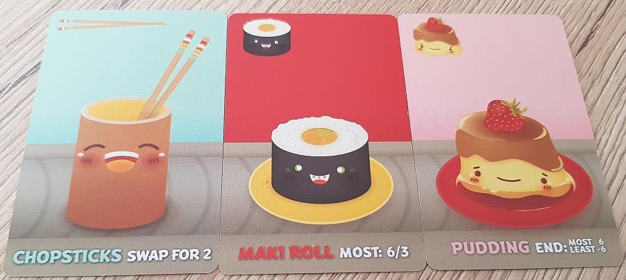 sushi go review chopsticks maki roll pudding